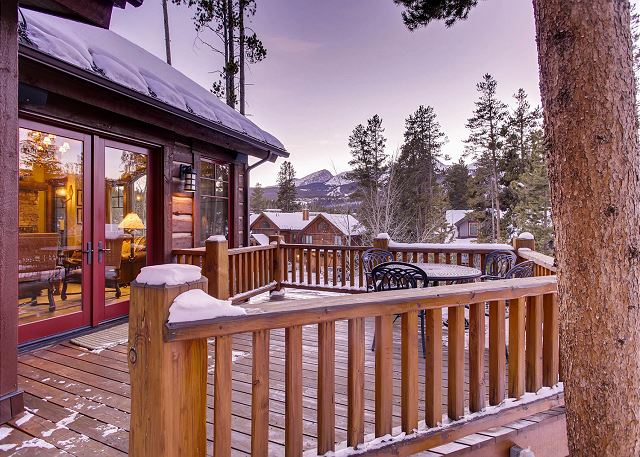 Outdoor dining with views of the Breckenridge Ski Area!