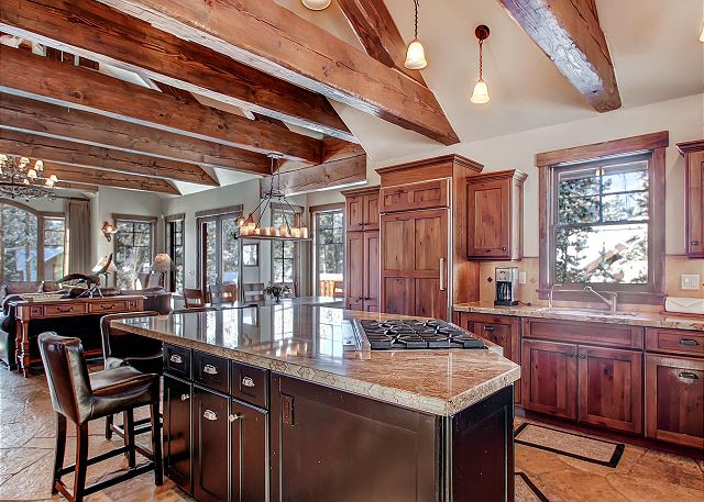 Open Main Level with Vaulted Ceilings