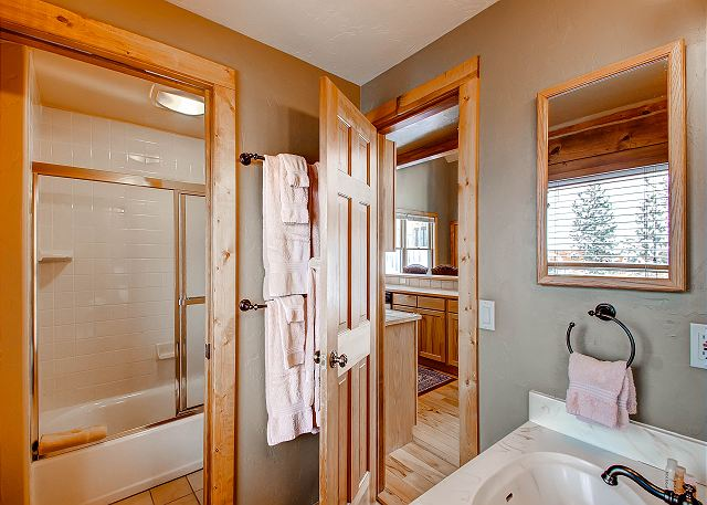 with full tub/shower