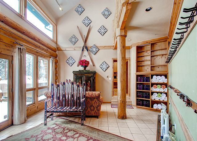 with door access leading to ski run.  Plenty of storage space for all of your gear!