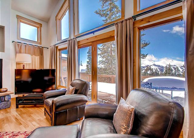 Great Room with gas fireplace and flat screen TV