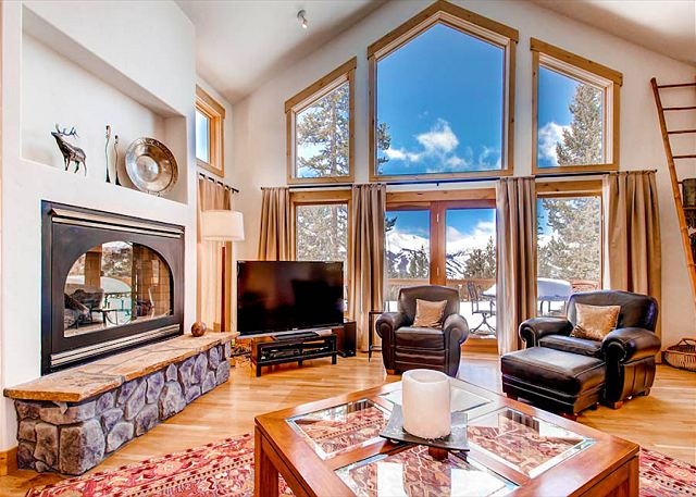 Expansive living room with great views