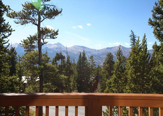 Excellent Views of the Breckenridge Peaks from front deck