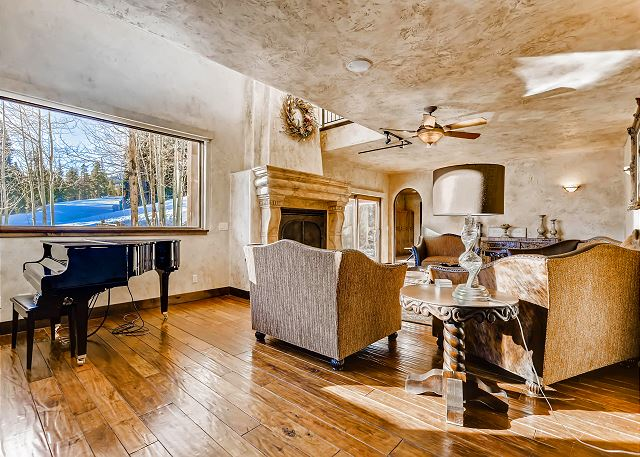 on the Main Level is a quiet retreat to enjoy a good book by the fire or take an afternoon nap