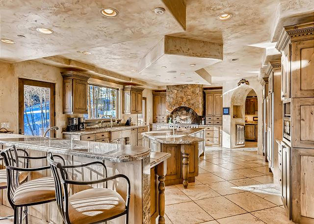 is the heart of the chateau and features professional-grade appliances