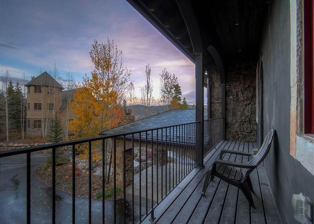 Private Balcony outside of Peaks Portofino Suite