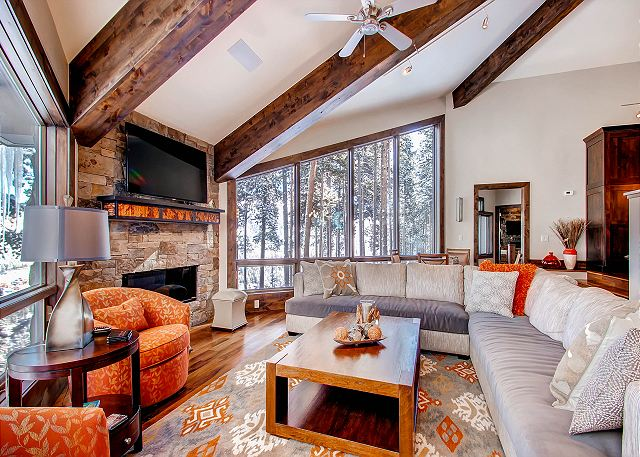 Gather around a cozy fire in the Great Room