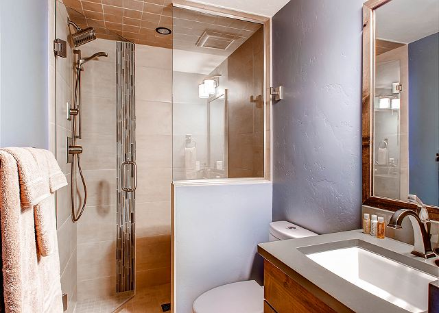 Full Bath on Lower Level
