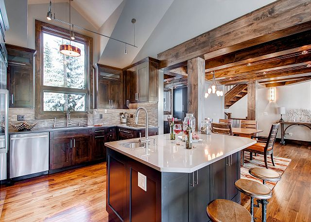 Gourmet Kitchen with Bar Seating and High End Finishes