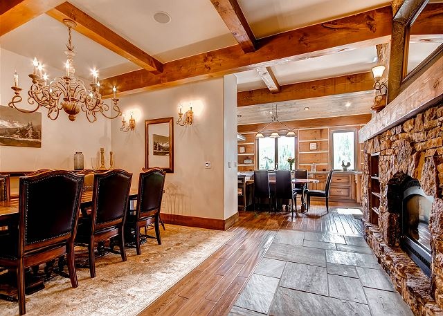 Dining Room features gas fireplace!