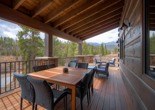 Deck off of Main Level with lots of outdoor seating