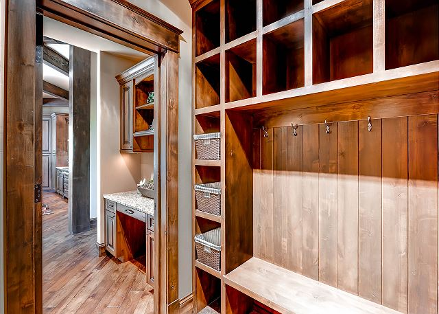 Mud Room with ample space for storing ski clothing
