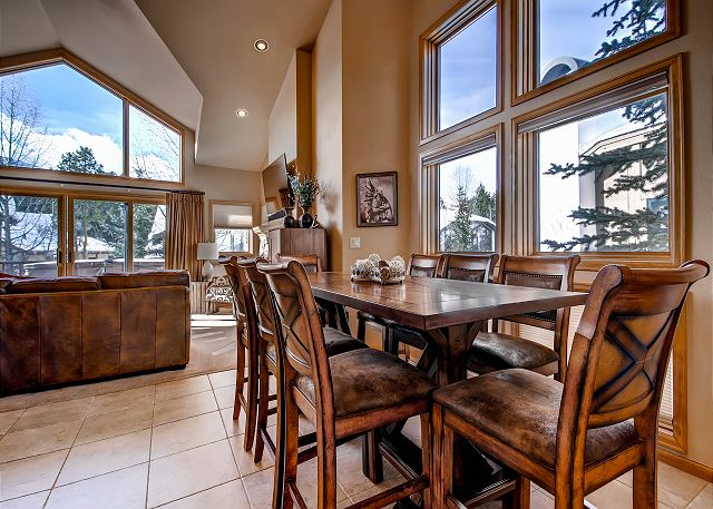 Dining Area in Open Floor Plan Upper/Main Level of Townhome