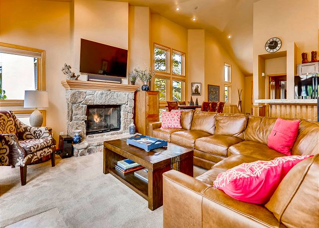 with gas fireplace and TV viewing for later in the day!