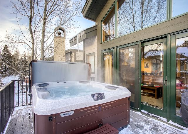 Enjoy relaxing in your very own private hot tub!
