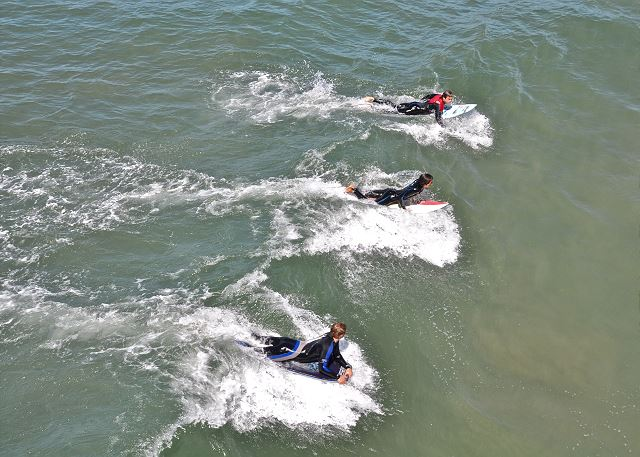 Body Boarders at A Street