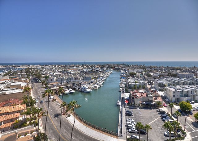 Aerial View of Newport Harbor & Cannery Restaurant