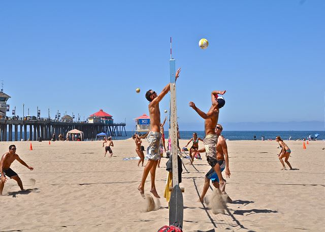 Beach Volleyball Match