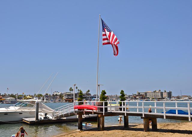 Flag on Balboa Island