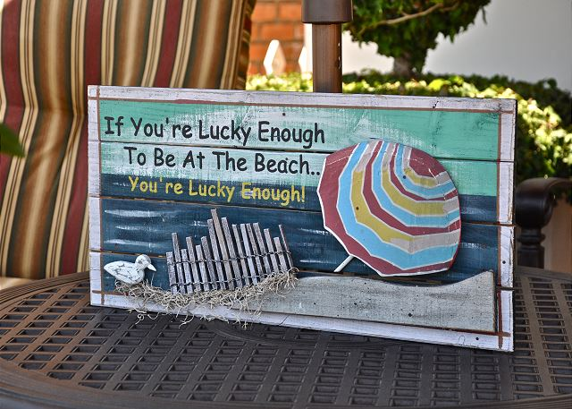 If you're lucky enough to be at the beach...