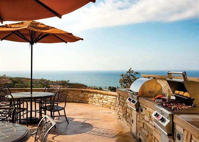 BBQ with ocean views