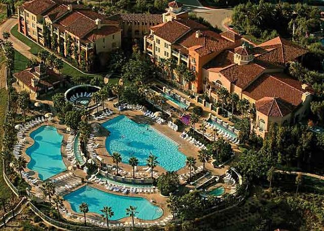three outdoor pools and two whirlpool spas.