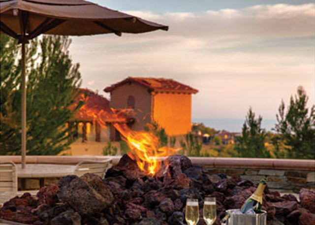 Tuscan style 2BR / 2BA Villas are perched atop a bluff overlooki