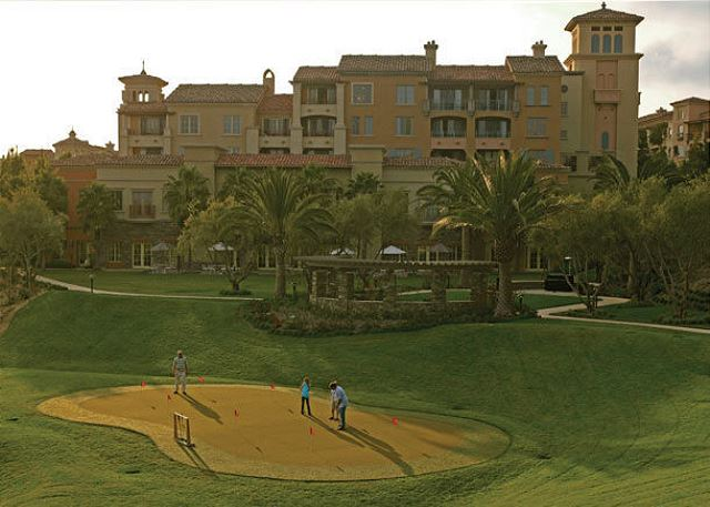 Test your golf game at the adjacent Pelican Hill Golf Club.