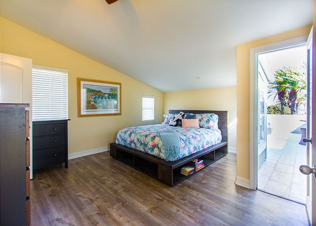 Master bedroom connects to awesome rooftop deck