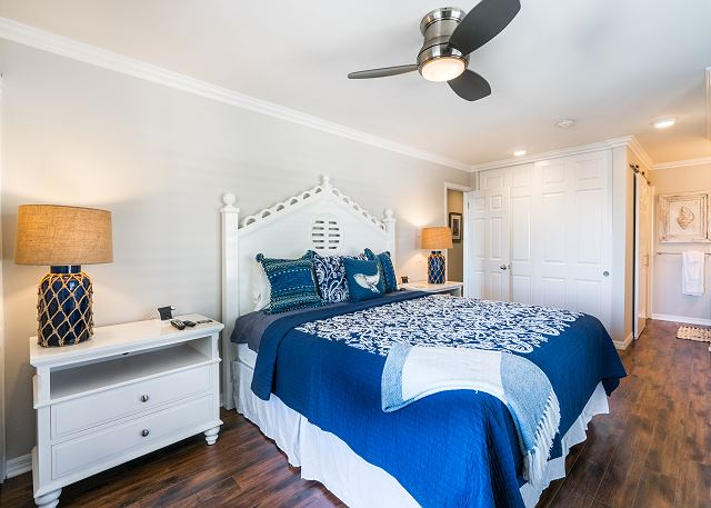 The master bedroom faces the water presenting a serene ocean vie