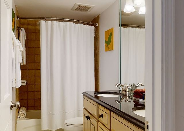 Master Bath Has Tub/Shower Combo