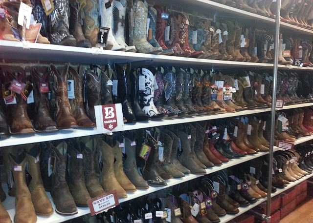 Do Some Boot Shopping on Lower Broadway, steps from the Loft!