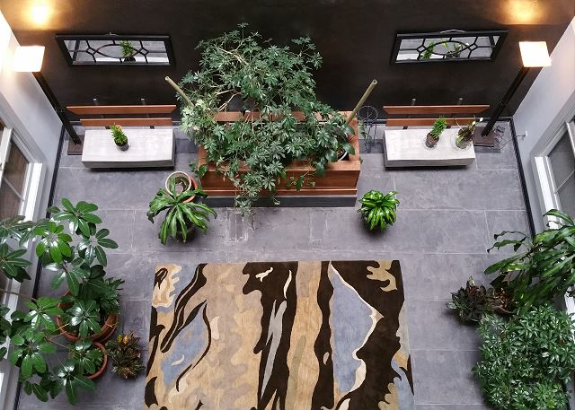 View from the Loft Windows into the building's Interior Atrium