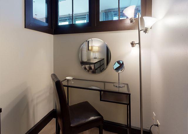 Plenty of Mirrors and Desk/Vanity Space