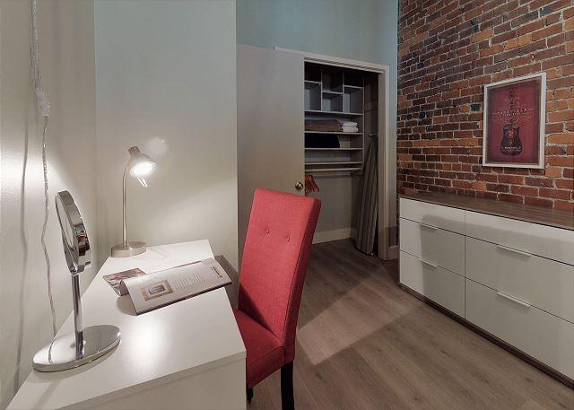 Each Bedroom has A Desk/Vanity