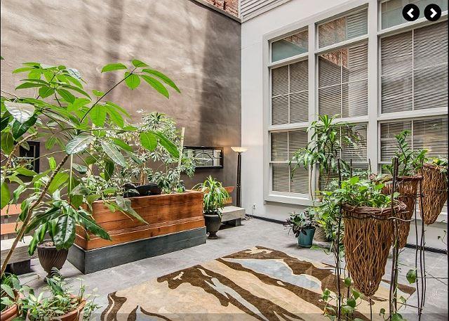 Windows Overlook the Sunny (yet quiet) Quarters Atrium