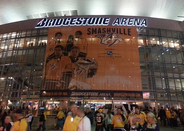 Walk to Bridgestone Arena for a Concert or Sporting Event