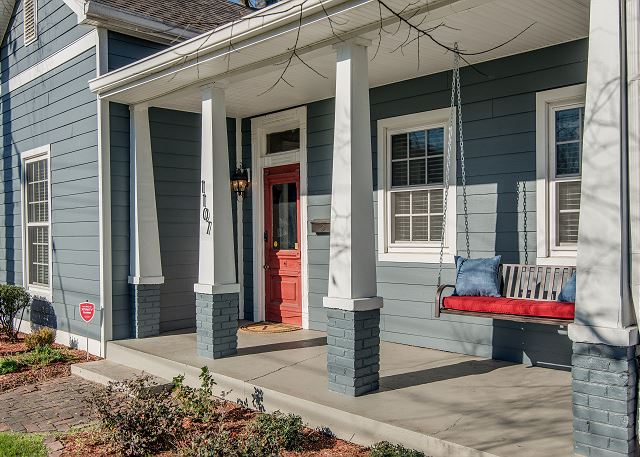 Welcoming Front Porch Swing