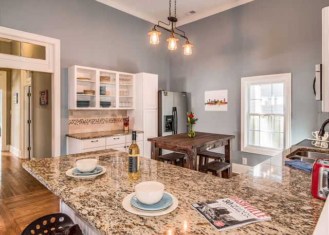 Large counter space for cooking, eating, and buffet style dining!
