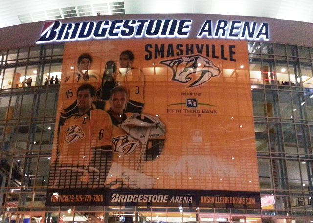Walk to Bridgestone Arena for a Concerts or Sporting Events