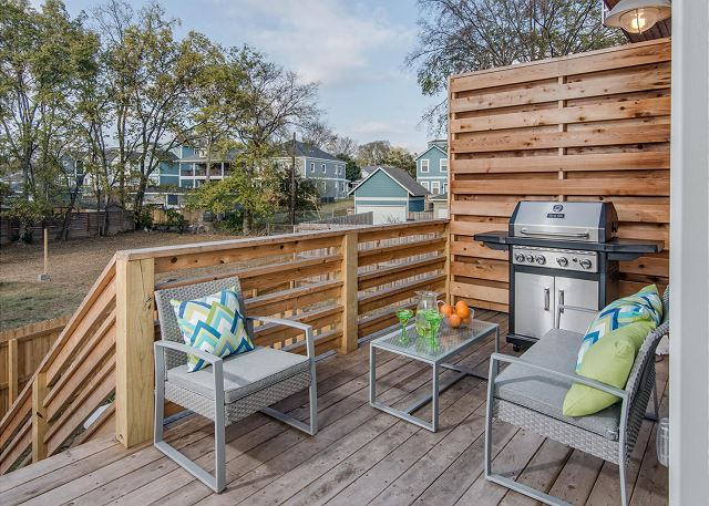 Back Deck with Seating and Gas Grill