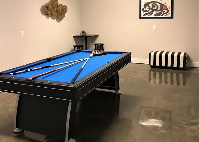 Ground Floor has 7' Pool Table and Electronic Dart Board