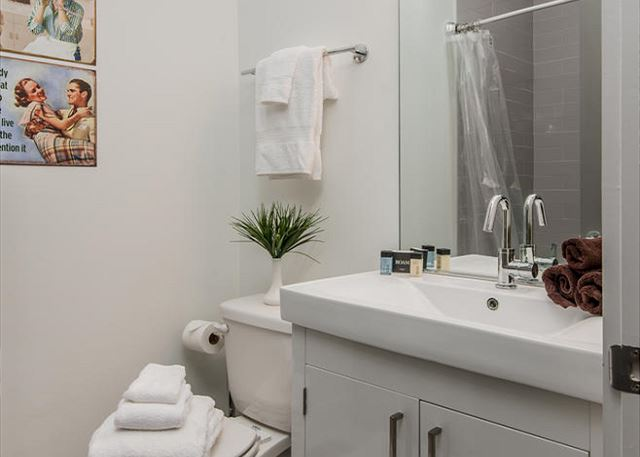 Bunk Room has an en suite Full Bath!