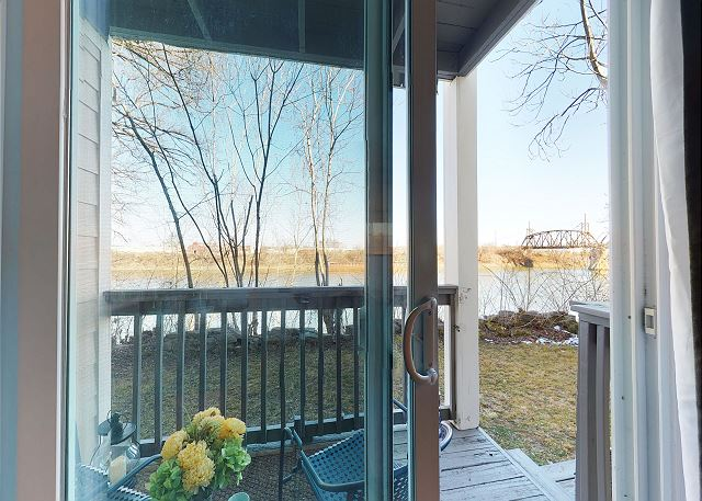 Back Deck on the River with Seating