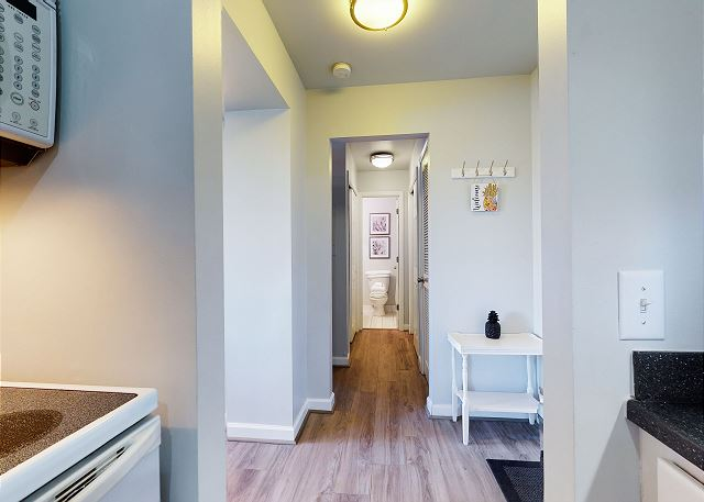 View Down the Hall to Bathroom (Bedroom on the Left)