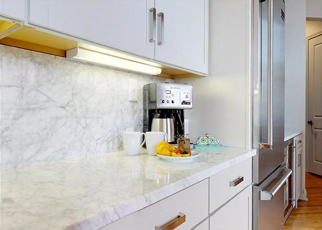Beautiful Countertops with Coffee Maker