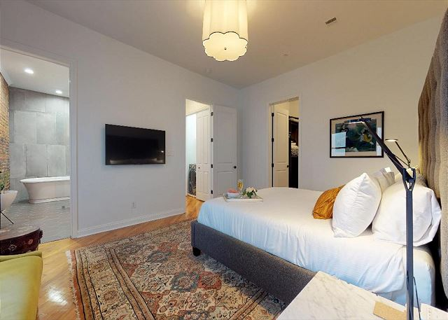 Flat Screen TV in Master Suite