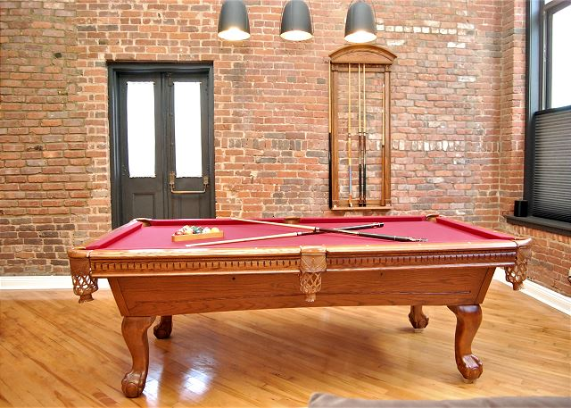 Cool Pool Table with Great Lighting