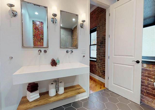 Double Vanities & Mirrors in Master Full Bath