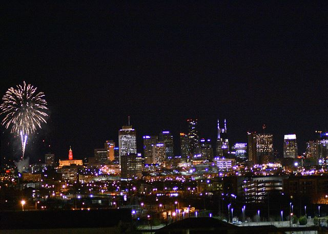 View of FIREWORKS downtown from the Rooftop!